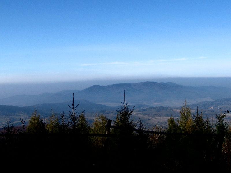 Výhled z Jawornika Wielkiho